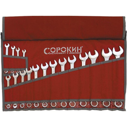 Набор ключей рожково-накидных Сорокин 1.41 (6-22мм, 7шт) Сорокин Ручной Инструмент